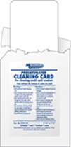 PRESATURATED CLEANING CARDS, FOR CREDIT CARD READERS, WIPE