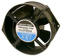 Fan 115Vac, 150mm X 55mm, 230 CFM, Ball Bearing