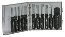 Compact Convertible Nutdriver Set - Metric Sizes, 11 pieces