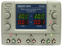 Triple Output - Linear Power Supply (2 X 0-30VDC @ 3A & Fixed 5VDC @3A)