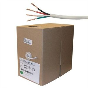 4 Conductor, 14 AWG FT4, 500 ft Speaker Wire