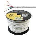 High Performance Speaker Wire, In-Wall, 16AWG, 4 Conductor, 100ft